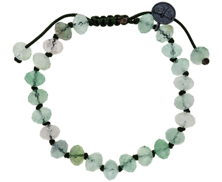 Faceted Flourite Beaded Bracelet - TWISTonline