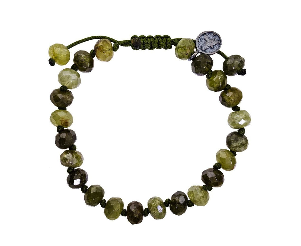 Beaded Green Garnet Bracelet - TWISTonline