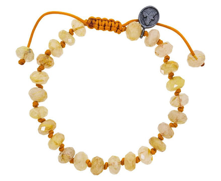 Beaded Gold Rutile Quartz Bracelet - TWISTonline