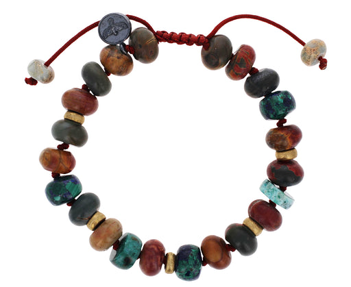 Chrysocolla, Malachite Azurite, Jasper, Red Creek Bracelet