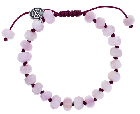 Faceted Kunzite Beaded Bracelet