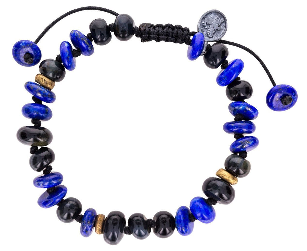 Lapis and Blue Tiger Eye Beaded Bracelet - TWISTonline