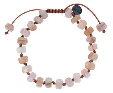 Rough Cut Morganite Beaded Bracelet - TWISTonline