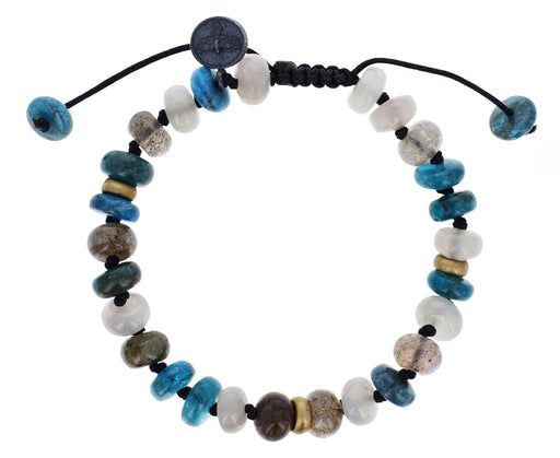 Moonstone, Apatite and Labradorite Beaded Bracelet