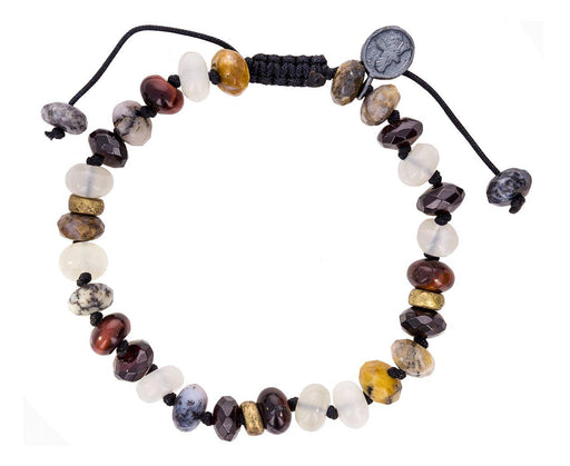 Moonstone, Moss Opal and Garnet Mix Beaded Bracelet - TWISTonline