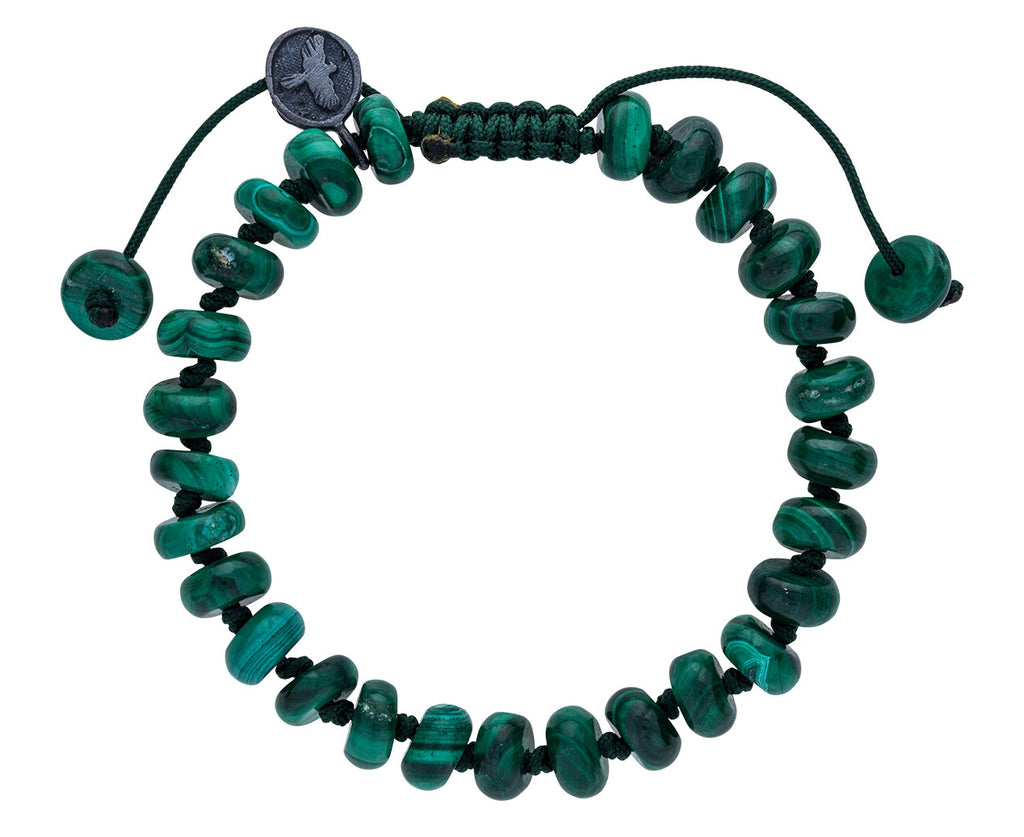 Smooth Malachite Beaded Bracelet
