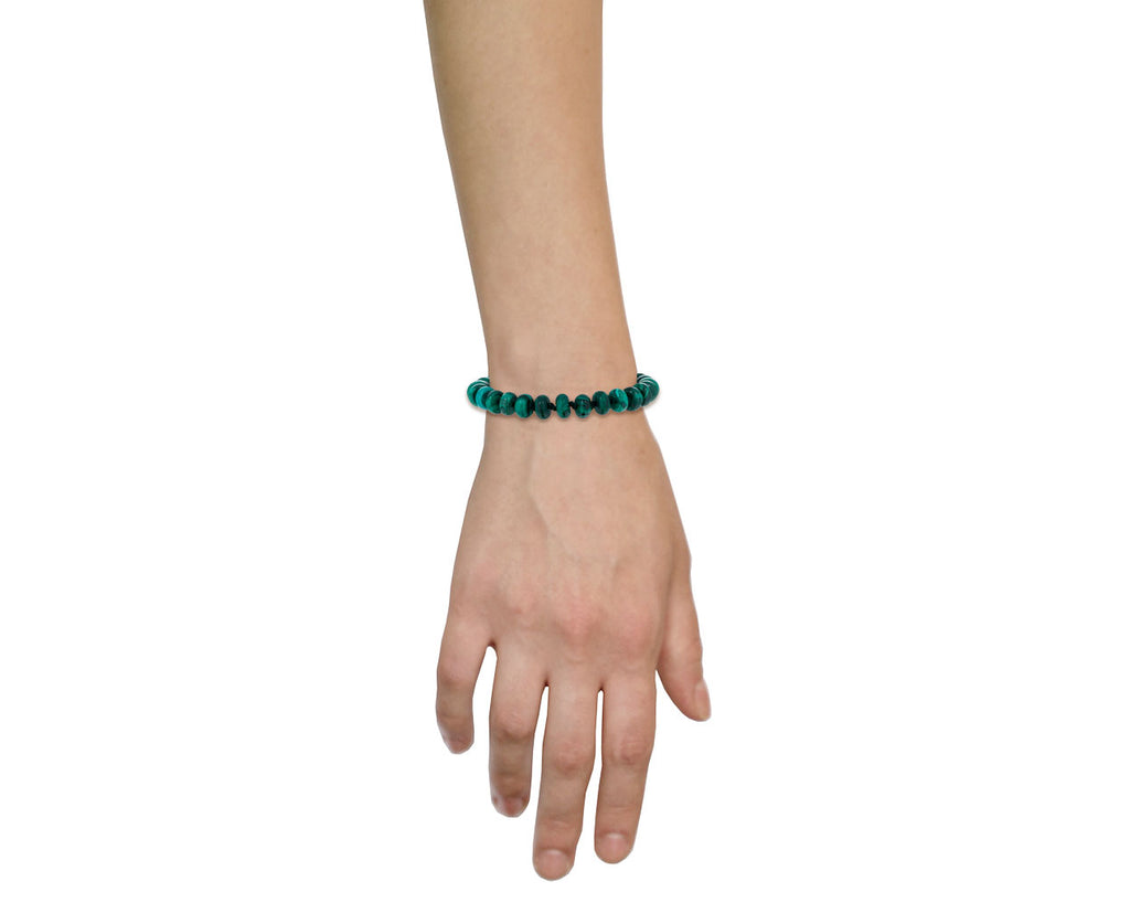 Smooth Malachite Beaded Bracelet - TWISTonline