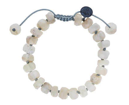 Rough Cut White Moonstone Beaded Bracelet - TWISTonline