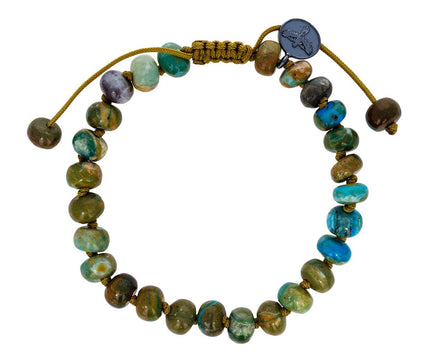 Blue Peruvian Opal Beaded Bracelet - TWISTonline
