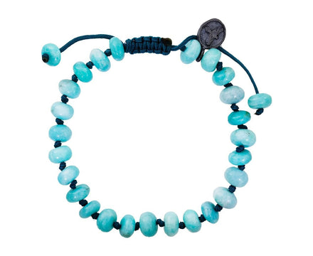 Beaded Smooth Amazonite Bracelet - TWISTonline