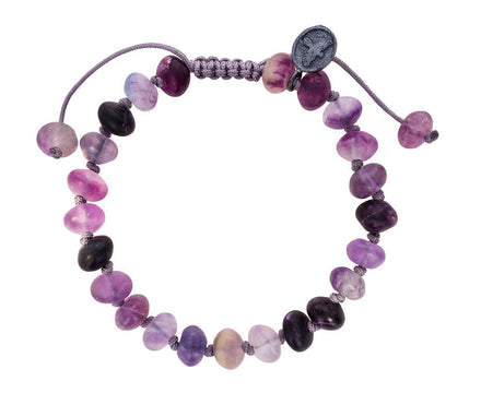 Purple Flourite Beaded Bracelet - TWISTonline