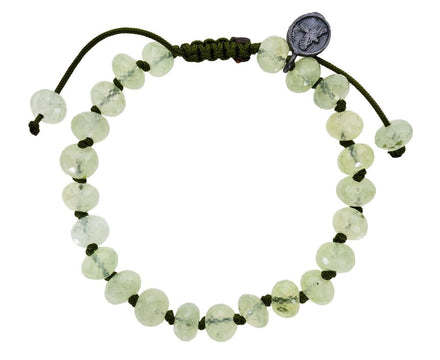 Beaded Prehnite Bracelet with Tourmaline Inclusions - TWISTonline