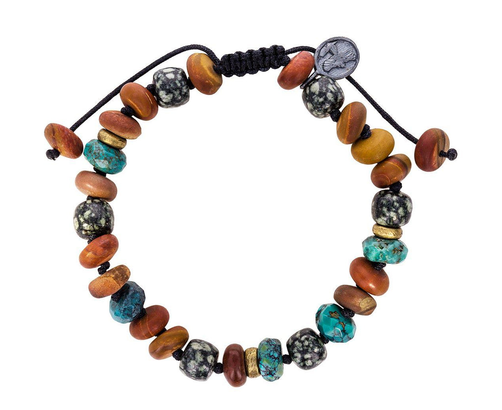 Mixed Jasper and Arizona Turquoise Beaded Bracelet - TWISTonline