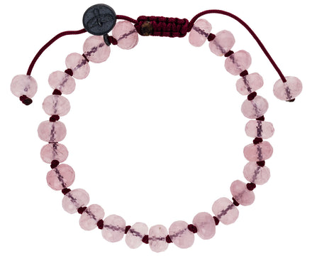 Faceted Rose Quartz Beaded Bracelet - TWISTonline
