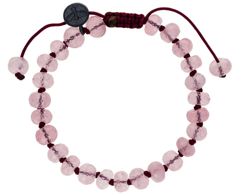 Faceted Rose Quartz Beaded Bracelet