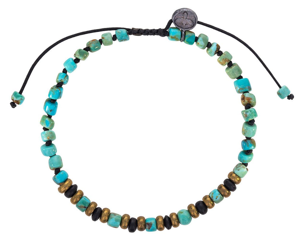 Arizona Turquoise and Black Onyx Beaded Bracelet zoom 1_joseph_brooks_turquoise_onyx_beaded_bracelet
