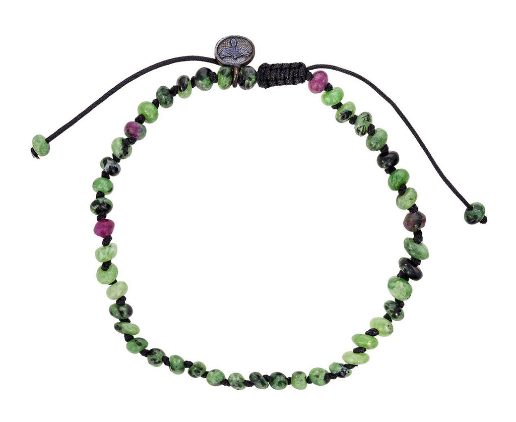Ziosite and Ruby Beaded Bracelet  zoom 1_joseph_brooks_ziosite_ruby_beaded_bracelet