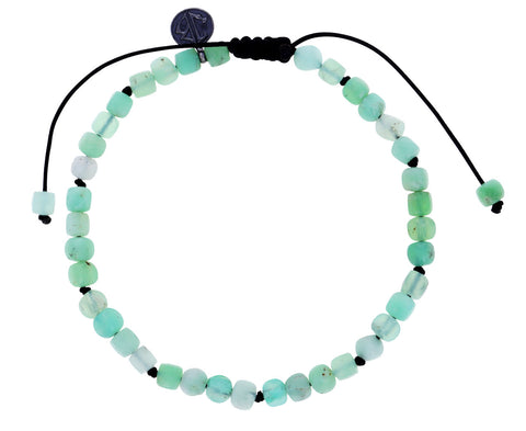 Square Chrysoprase Beaded Bracelet