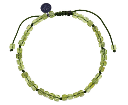 Square Peridot Beaded Bracelet