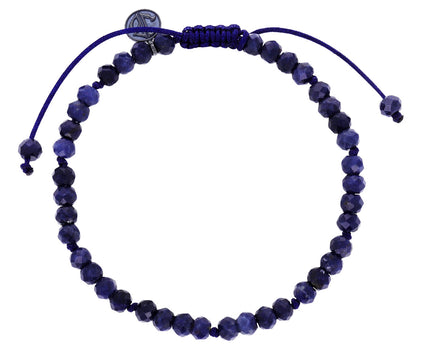 Dark Blue Black Sapphire Beaded Bracelet