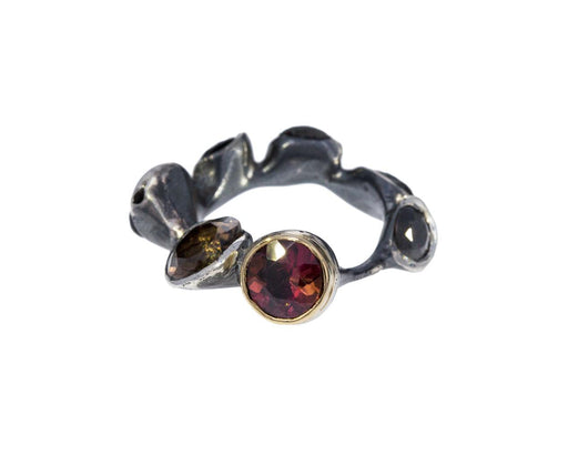 Multi Stone Flor Ring - TWISTonline