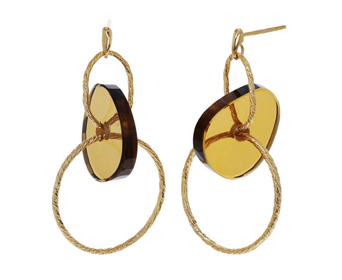 Smoky Quartz Brinco Nora Earrings