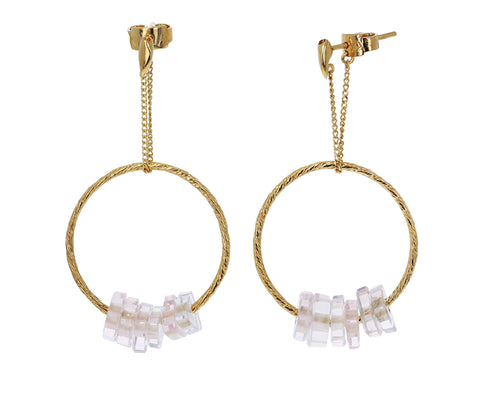 Rose Quartz Bambole Medio Earrings - TWISTonline