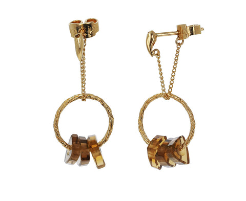Smoky Quartz Bambole Pequeno Earrings - TWISTonline