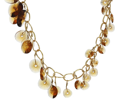 Cognac Quartz Bambole Necklace