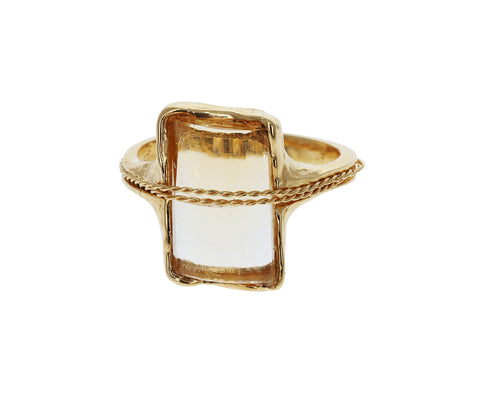 Citrine Quartz Tucum Ring
