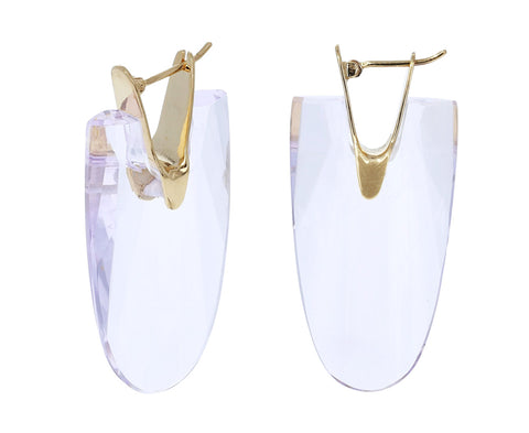 Lavender Quartz Wama Earrings