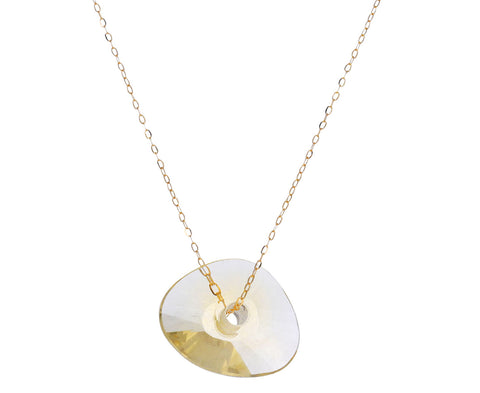 Champagne Quartz Paete Necklace