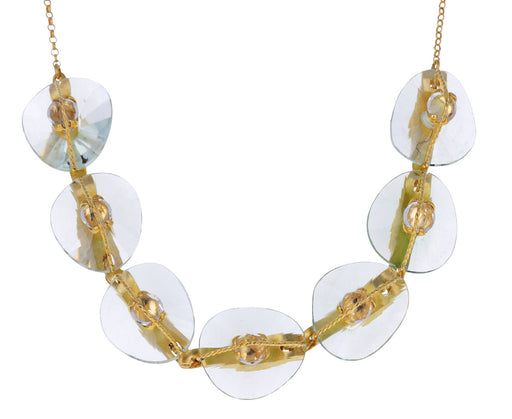 Prasiolite and Quartz Abaco Necklace