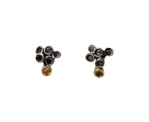 Black and Cognac Diamond Brinco Earrings - TWISTonline