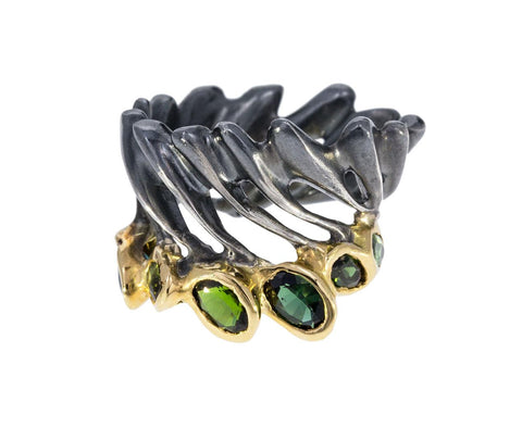 Green Tourmaline Plumado Ring - TWISTonline