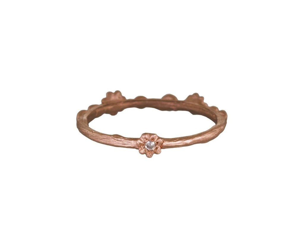 Daisy and Pod Stacking Ring with Diamonds - TWISTonline