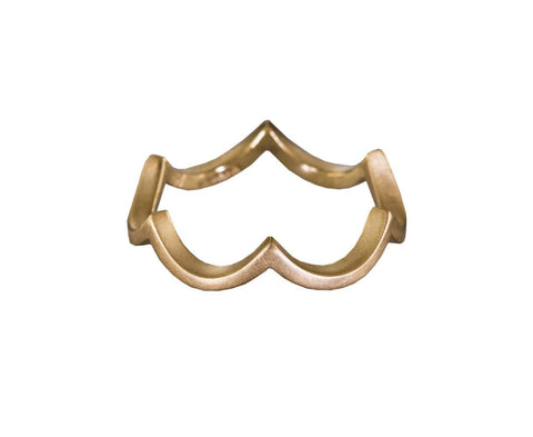 Yellow Gold Small Cloud Band - TWISTonline
