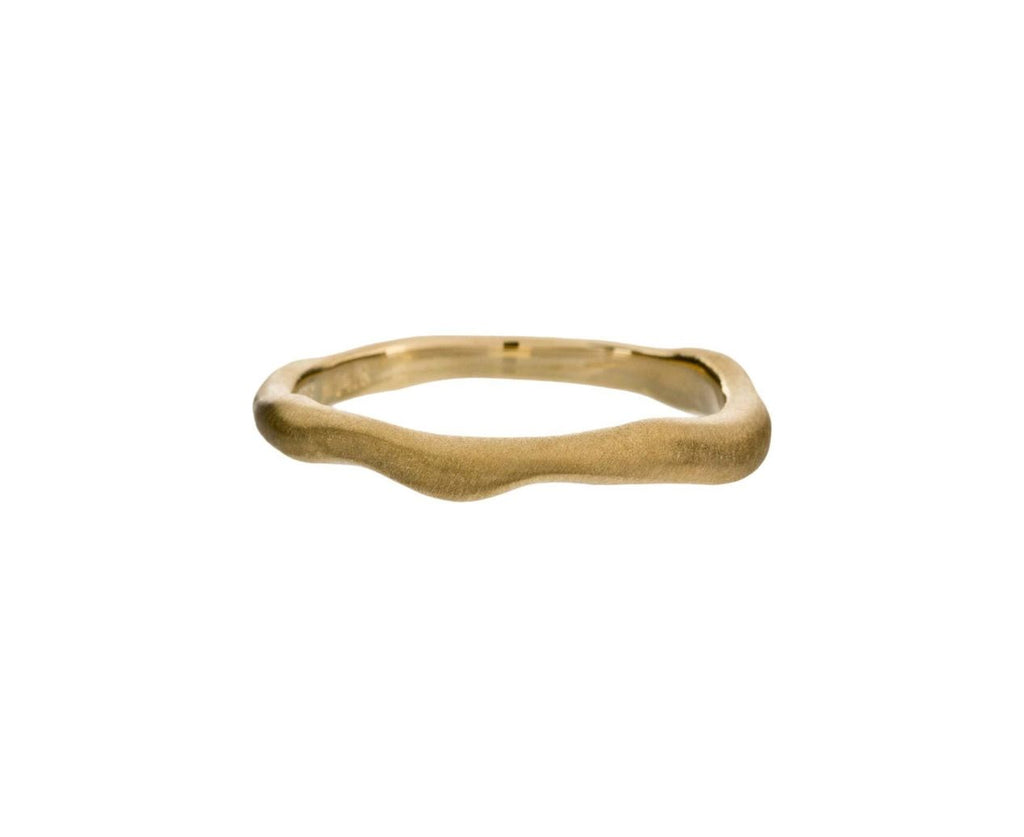 Yellow Gold Wavy Stacking Band zoom 1