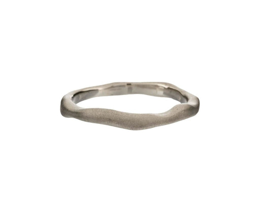 White Gold Wavy Stacking Band - TWISTonline