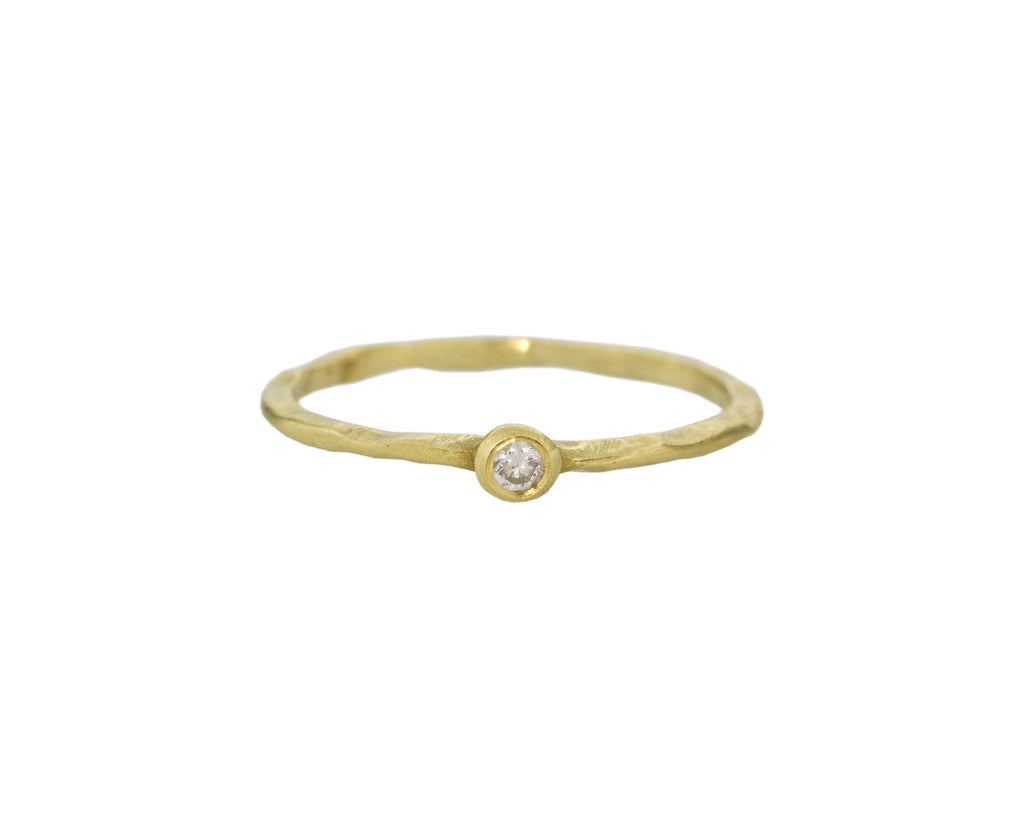 Yellow Gold Solitaire Band zoom 1