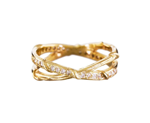 Diamond Double Vine Eternity Band - TWISTonline