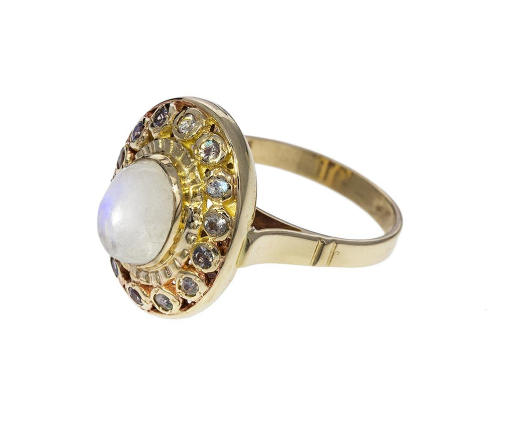 Moonstone and Labradorite Pebblestone Ring - TWISTonline