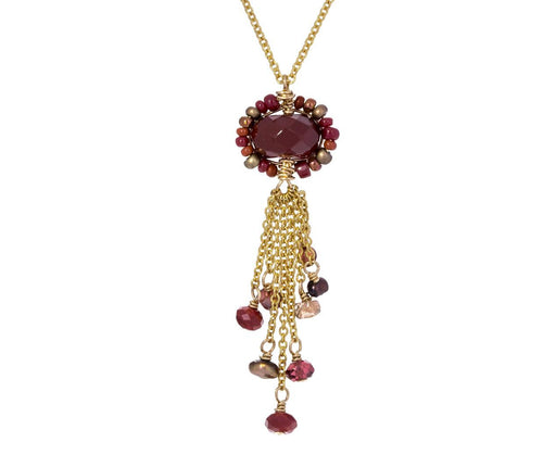 Red Quartz Tassel Necklace - TWISTonline