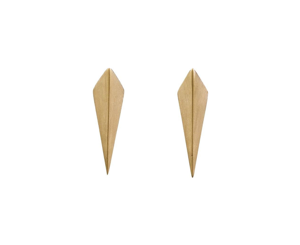 Gold Double Isosceles Triangle Earrings with Hidden Diamonds - TWISTonline