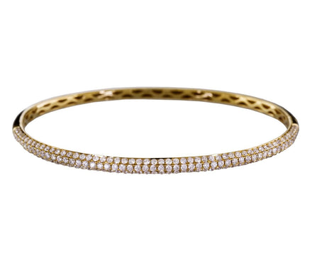 Three Row Micro-Diamond Pavé Bracelet - TWISTonline