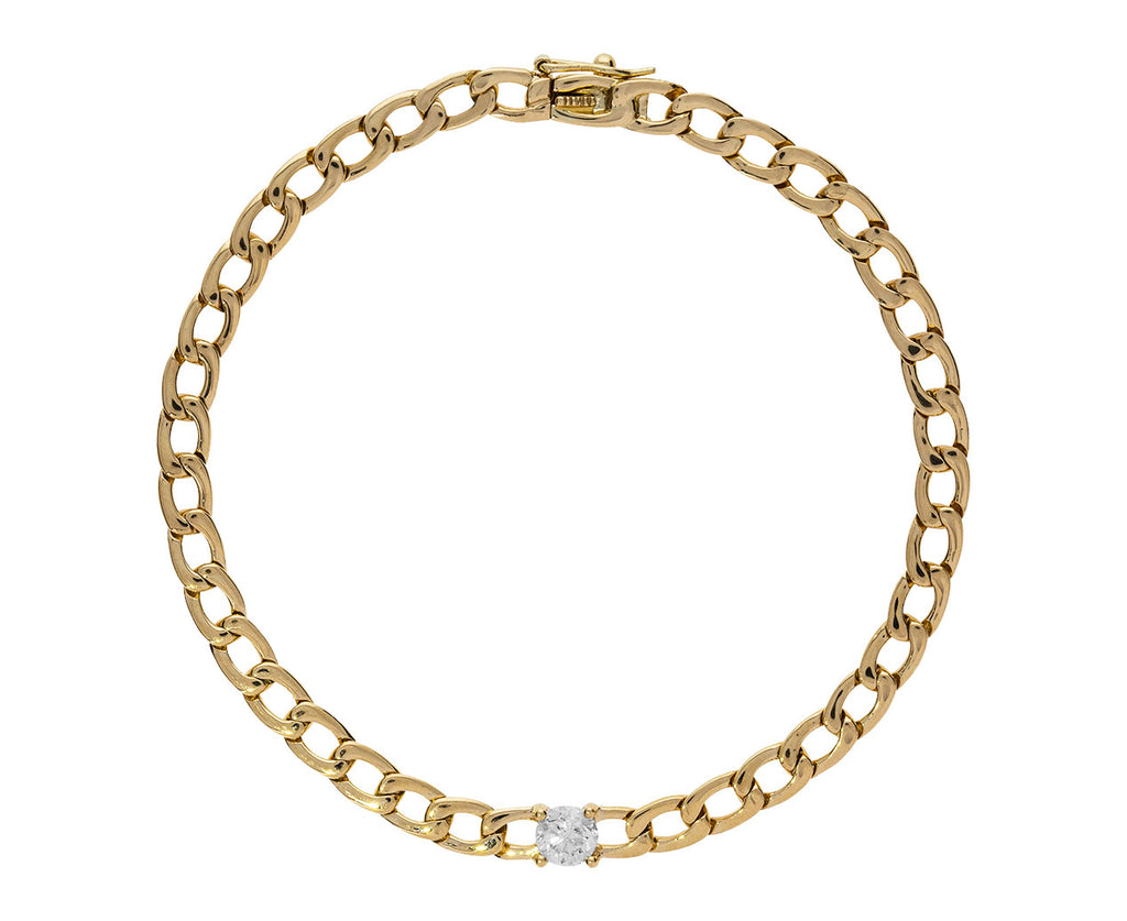 Round Shaped Diamond Link Chain Bracelet