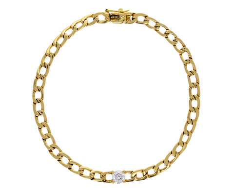 Round Diamond Chain Bracelet