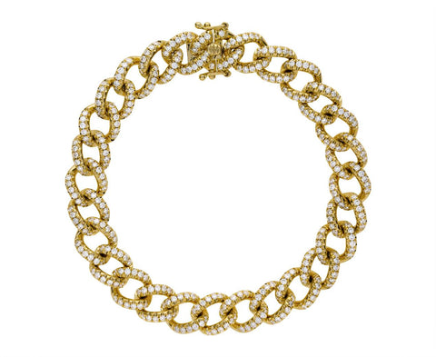 Diamond Pavé Chain Link Bracelet - TWISTonline