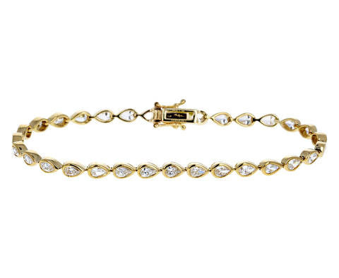 Pear Shaped Diamond Bracelet