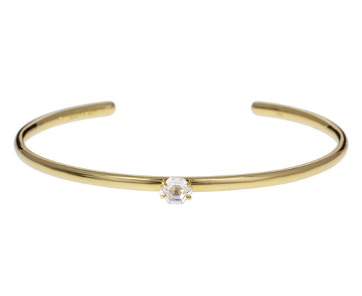 Hexagonal Cut Diamond Cuff Bracelet - TWISTonline